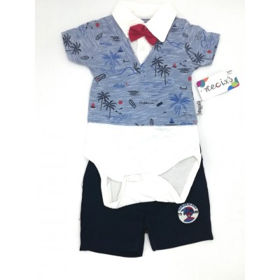 Aloha Bodysuit with Tie and Short