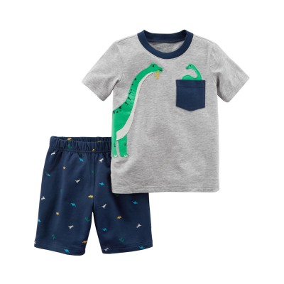 Carter's 2-Piece Dinosaur Top & Short Set