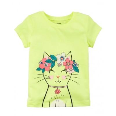 Carter's Neon Kitty Jersey Tee