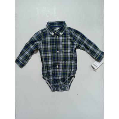 Checkered Button-Front Bodysuit 3