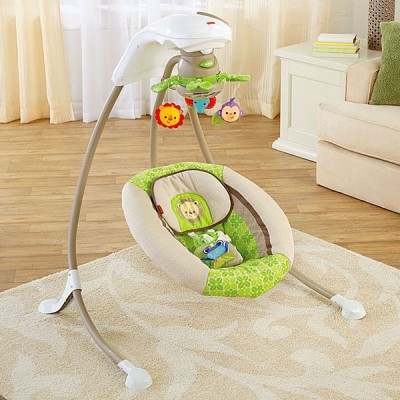 Fisherprice Rainforest Deluxe Cradle Swing 3