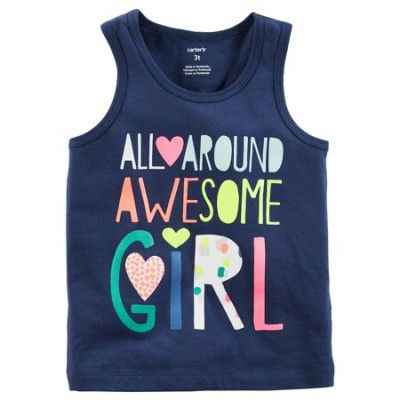"Girls Carter's""All Around Awesome Girl"" Tank Top 3"