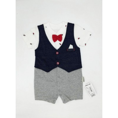 Necix's Baby Bodysuit with Bow Tie