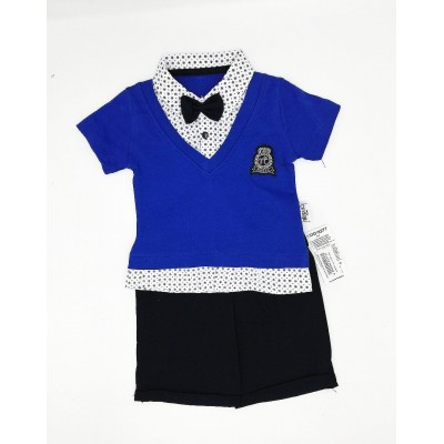 Necix's Boys' 2 Pcs Set with Bow Tie 3