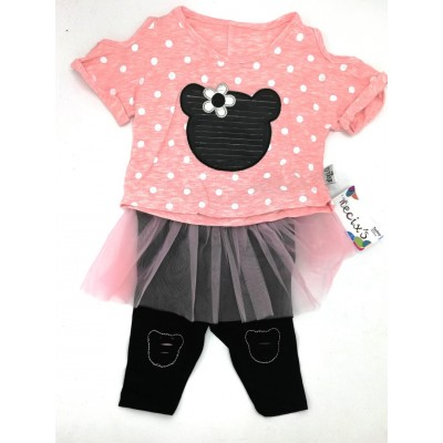 Necix's Minnie Mouse 2 Pcs Set for Girls