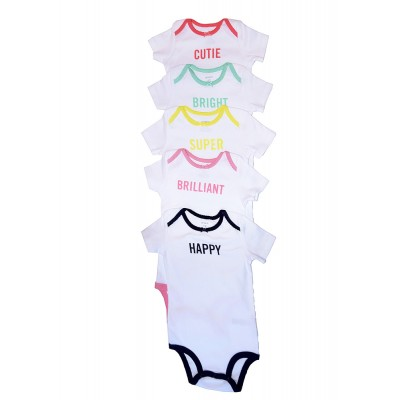 Baby Girls 5 Piece Body suits Set