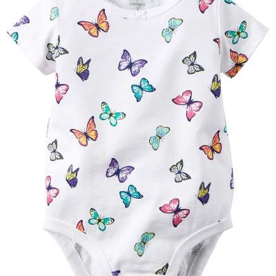Carter's Baby Girl's Butterfly Print Bodysuit