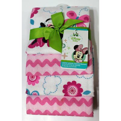 Disney Baby Minnie Mouse 4 Flannel Blankets