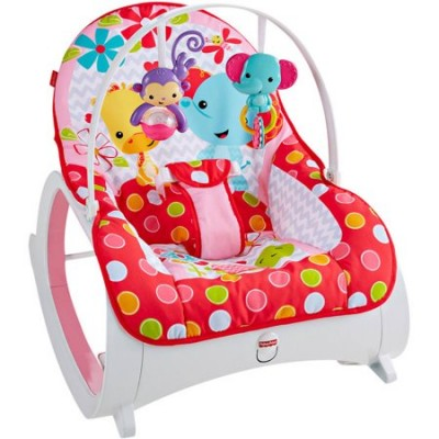 fisher price infant to toddler rocker pink colour