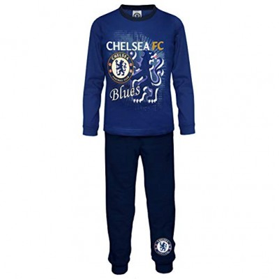 Chelsea Fc Official Football Boys Toddler Kids Pajamas Blue 3 – 4 Years (104cm)