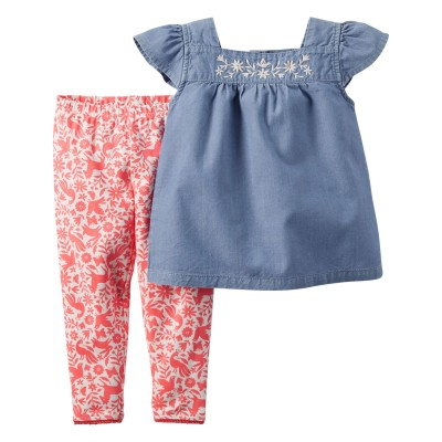 Carters 2 Leggings Top Set 3