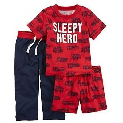 Carter's Baby Boys' 3-Pc Sleepy Hero Jersey Pajamas