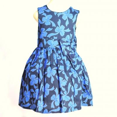 DesignerClub Blue Black Floral Dress 3