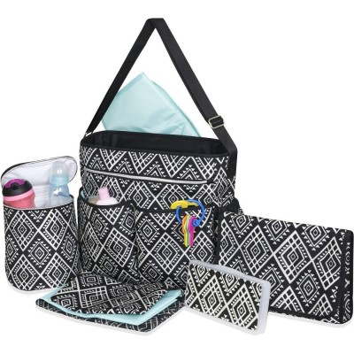 Deluxe Cross body Diaper Bag – 8 piece set