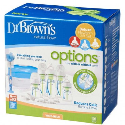 Dr Brown's Natural Flow Deluxe Newborn Gift Set 3