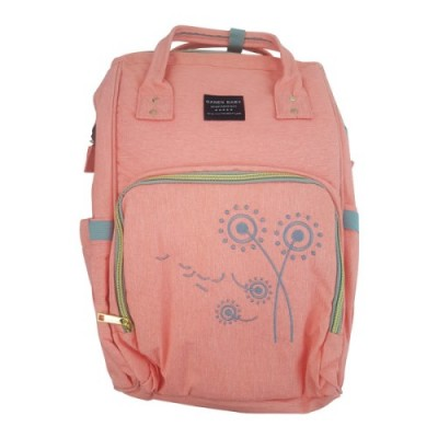 Embroidered Flower Diaper Backpack – PEACH