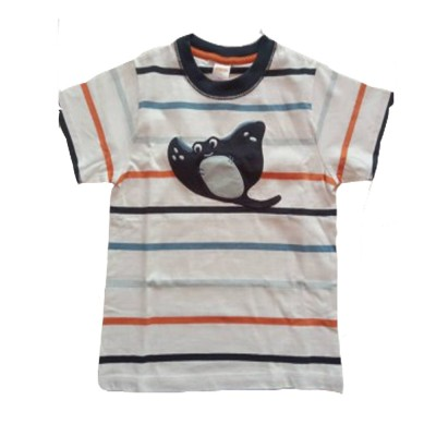 Gymboree Boys Tan Multi Stripe Short Sleeve