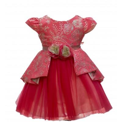 Jolanda Party peach dress - (2-3 years) 3