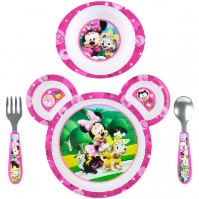 Mickey and Minnie Toddler Feeding Set