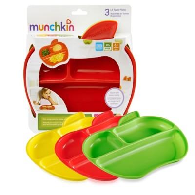 Munchkin Lil' Apple Plates - 3 Plates 3