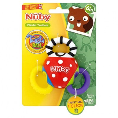 Nuby Twista Ball Teether, Multi-Colour 3