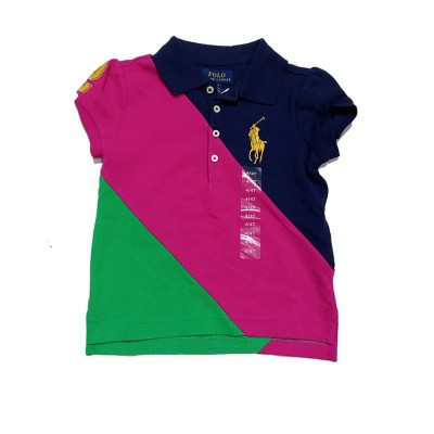 Polo Ralph Lauren Girls Big Pony Color-Blocked shirt 3