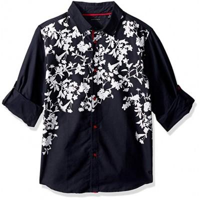 Sean John Boys' Big Printed Twill Long Sleeve Woven Shirt 3