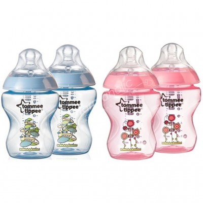 Tommee Tippee Decorated Feeding Bottle 2X260Ml 3