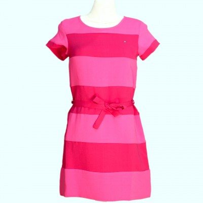 Tommy hilfiger pink and wine dress - size 14 3