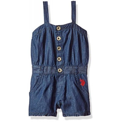 U.S. Polo Assn. Baby Girls' Denim Romper 4