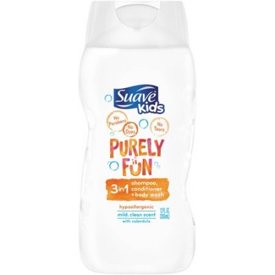 Suave Kids Purely Fun 3 in 1 Shampoo,Conditioner,Body Wash 3