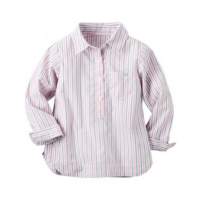 Carter's Girls Striped Front Button Placket Shirt 3