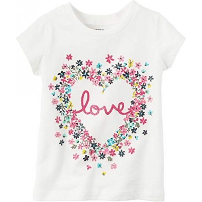 Carter's Little Girls Love Heart T-Shirt 3