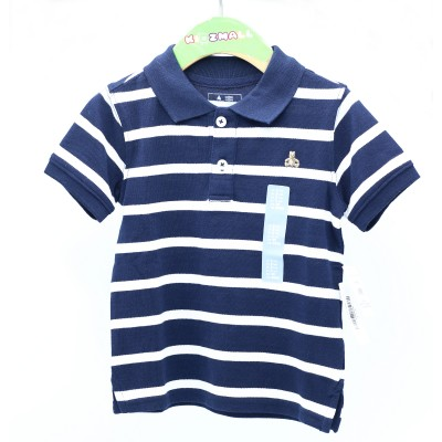 Gap Border Polo Sleeve Blue And White - 2 Years 3