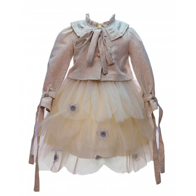 Jolanda Cream Dress/Jacket 3