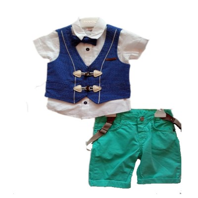 Baby Boys 3pc Shirt Short