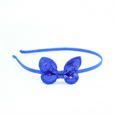 Baby Alice Band With Bow Blue