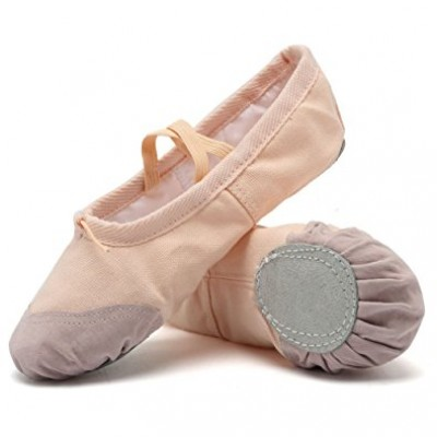 CIOR Ballet Slippers for Girls Classic Split-Sole Canvas Dance Gymnastics Yoga Shoes Flats
