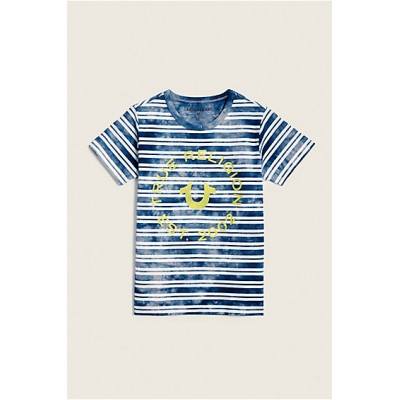 INDIGO STRIPE TODDLER-LITTLE KIDS TEE