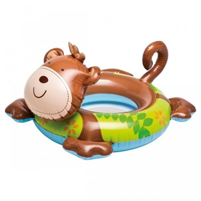 Intex Animal Swim Ring Pool Float Brown