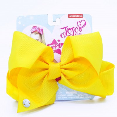 JOJO SIWA SIGNATURE COLLECTION HAIR BOW YELLOW