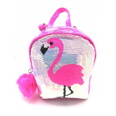 Justice Mini Small Backpack with flamingo