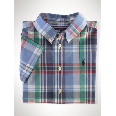 Lands' End Kids Blue Printed Shirt