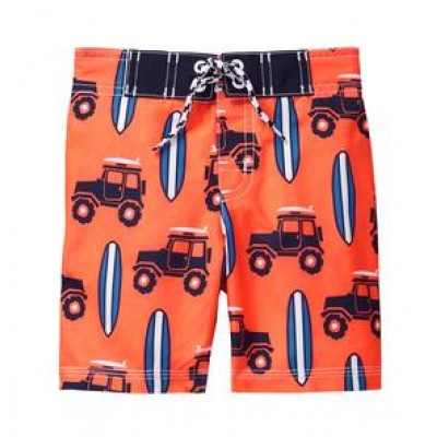 Orange UPF Gymboree swim Trunk