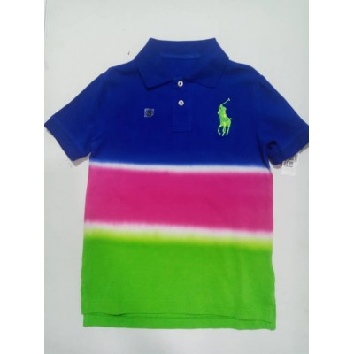 Rare Polo Ralph Lauren Big Pony Color Block Multicolor Polo Shirt