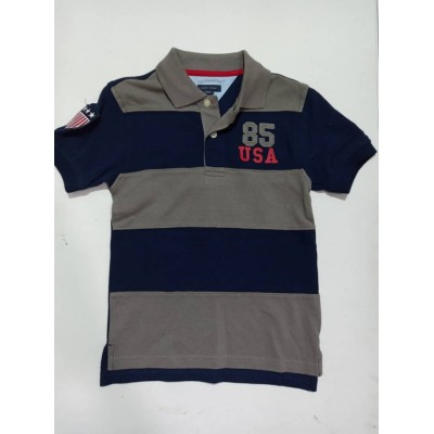 Tommy Hilfiger Blue And Grey 85 Usa Youth Boys Polo