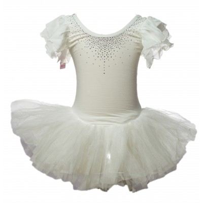 Tulle Ballet Dance Leotard Tutu Skirt Tiered Princess Dress