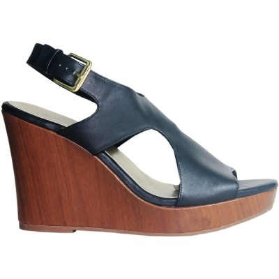American Eagle Black Wedge Sandal