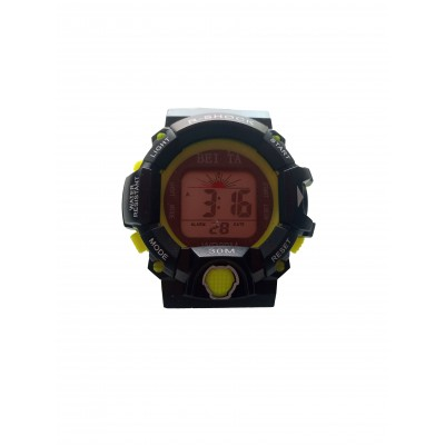 BEITA SPORT WRIST WATCH - BLACK & LEMON