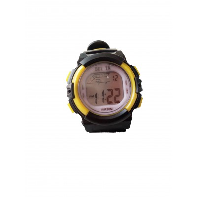 BEITA SPORT WRIST WATCH - BLACK & YELLOW
